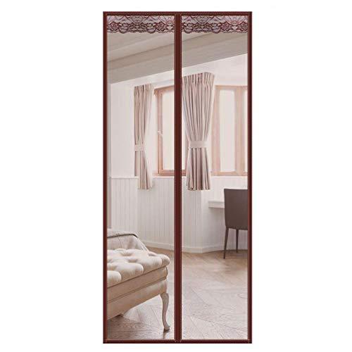 Vliegengordijn, magneetdeur, horgordijn, muggennet, warmte-isolerend, magnetische vliegeninsecten, deurschijf voor de keuken, balkon 85 * 220cm bruin