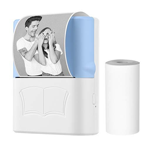 Docooler Mini Impresora portátil de Bolsillo Impresora fotográfica térmica inalámbrica BT Impresora fotográfica de Notas de Imagen Listas de Notas de Diario Recibo de Papel Etiqueta de Impresora