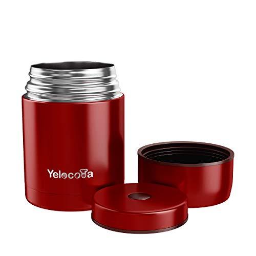 Yelocota Food Flask - 27 oz Récipient isotherme, en acier inoxydable, sans BPA, pour les aliments chauds, anti-fuite, double paroi