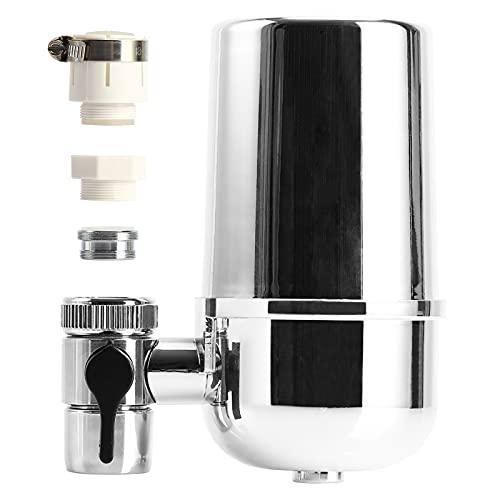 Clenp Purificador de agua del grifo del grifo, filtro de agua del grifo reduce el cloro 8 capas 8L/min a prueba de grietas sin fugas Filtro purificador estándar de interfaz universal plateado