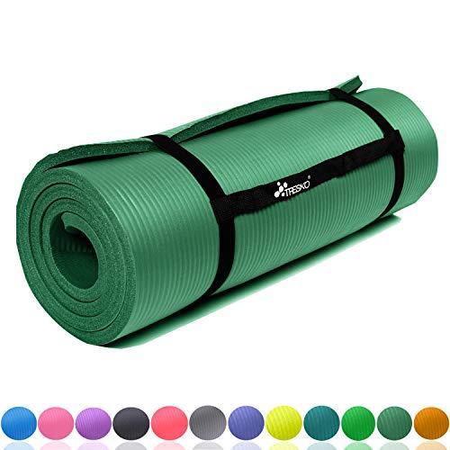 Meglio tasche multiple e cerniera compatibile con la maggior parte delle misure Portatappetino in cotone per yoga da 65 x 18 cm Tracolla regolabile