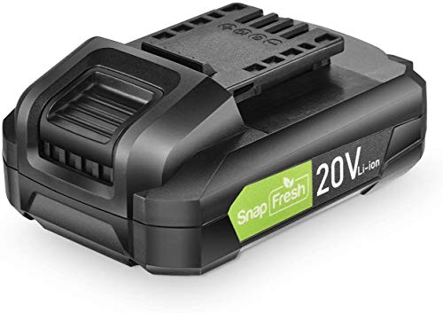 20V Lithium Battery - 2.0Ah Li-ion Battery Packs for Cordless Tools, Long Life Battery Work with SnapFresh Cordless Leaf Blower, Lithium-Ion Battery Support Fast Charging (BBT-DC20A)