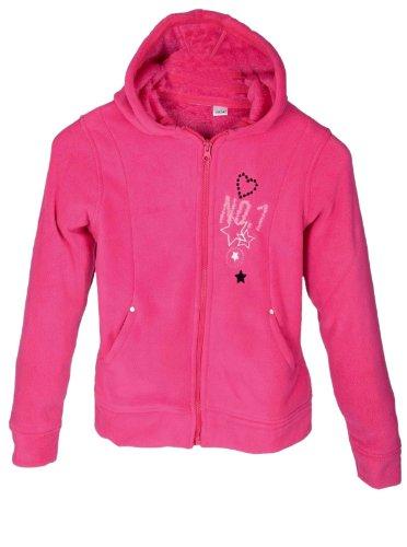 N.N. Kinderen meisjes Teddy Fleece jas met capuchon hoodie voor kinderen in roze