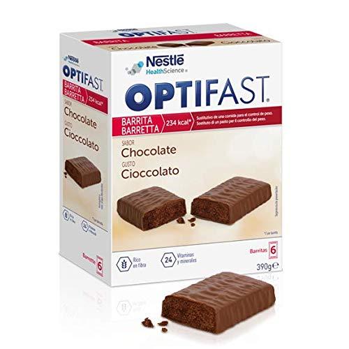 OPTIFAST home Diät Riegel Schokolade zum Abnehmen | eiweißreicher Mahlzeitenersatz mit wichtigen Vitaminen und Mineralstoffen | schnell und lecker | von Nestlé Health Science | 6 x 70g