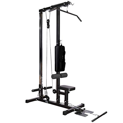 RIP X Stationary Lat Pulldown Machine with Extra Pulley for Seated Rows and Strap for Weighted Ab Crunches (Misc.)