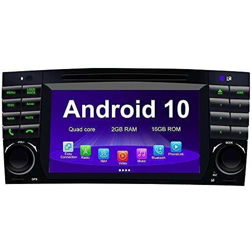 Android Auto Radio Car Stereo para Mercedes Benz CLK Class W209 CLK280 C-Class W203 C180 C200 CLC Class Android 11 Octa Core 6GB RAM 128GB ROM 7'Car DVD Player Car GPS System con CarPlay WiFi Dab +