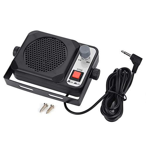 Jinxuny Externe microfoon-luidspreker, mini-walkie-talkie-autoradio-externe luidspreker voor Motorola YAESU-radio