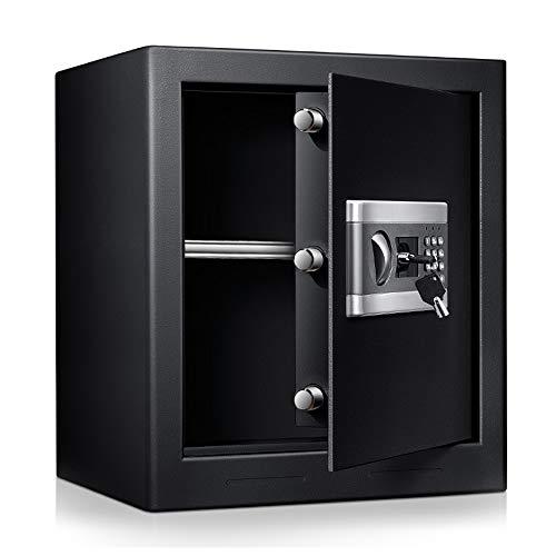 Coffre-fort électronique, boîte de sécurité numérique haute sécurité 43L armoire de sécurité pour bureau à domicile coffre-fort mural pour bijoux en argent