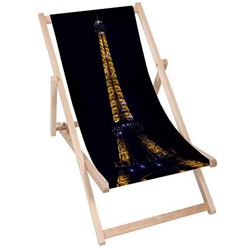 chille 5907803439523 Silla de Madera, Torre Eiffel una Noche