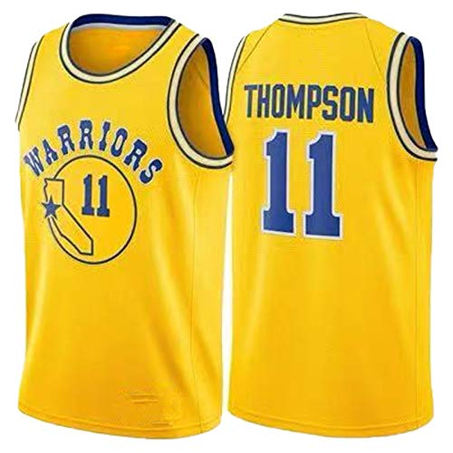 BGLJ Golden State Warriors - Uniforme de baloncesto para hombre # 11 Thompson New Season Hot Press