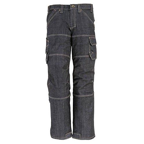 FHB 22659–22–23 Wilhelm Workwear-Jeans, Schwarz/Blau, schwarz, 2066133