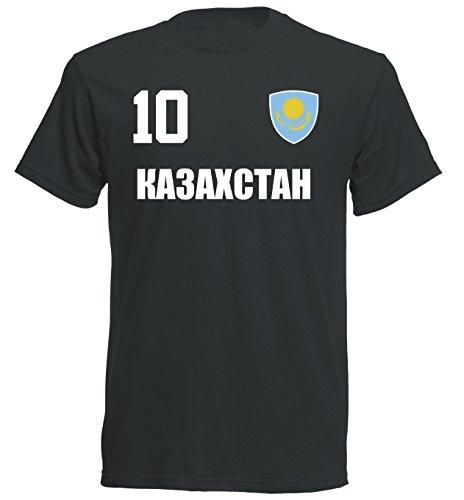Kazakhstan World Cup 2018 T-Shirt Jersey – Black ALL-10 – S M L XL XXL - Black - S