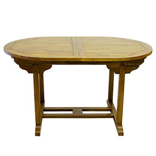 Lenox Gartentisch Esstisch massiver Holztisch Akazie groß wetterfest ausziehbar behandelt 180/240 cm 50 kg Outdoor Butterfly-Auszug SLVK Zertifiziert