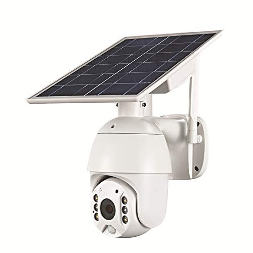 LLC-POWER Wireless Security Camera with Solar Panel, 100% Wire-Free Solar Powered Built in 19200Mah Rechargeable Battery, 1080P, IP66, PIR Motion Detection, Night Vision