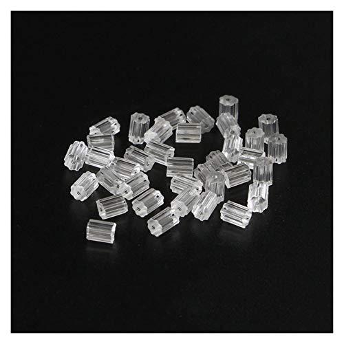JIAHUI 200 piezas / múltiples pendientes de goma, pendientes de flor de silicona, tapas y pendientes, tapones para joyas, se utilizan para hacer regalos (color: negro)