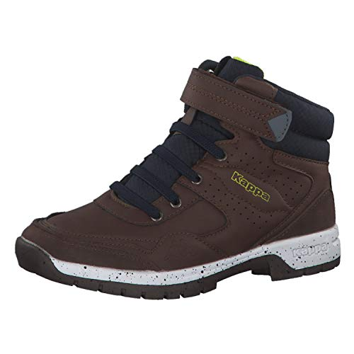 Kappa Unisex-Kinder Lithium Kids Hohe Sneaker, 5067 Brown/Navy, 33 EU