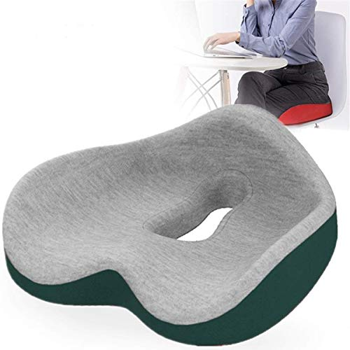 GAHFG Memory Foam Seat - Coccyx Cushion Donut Pillow - Cushions for Pressure Relief for Office Chair Pressure Relief Seat Cushion for Lower Back Pain Relief (Color : D)