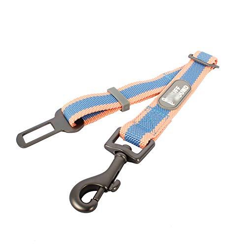 TWQ Cinturones de seguridad para mascotas, cinturones de seguridad para mascotas, correas ajustables de nailon para mascotas y cerraduras de aleación de zinc, adecuados para todo tipo de perros azul
