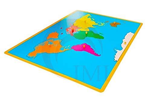 International Montessori Institute   Mapa Puzzle De Continentes en Madera