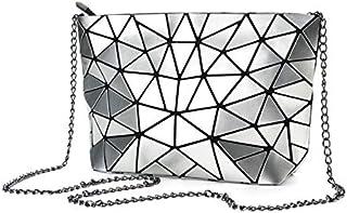 Geometric Sling Bag for Women (Silver)