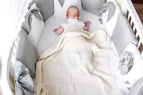 Eva&Naomi Manta de punto para bebé, 100% lana de merino, 75 x 100 cm, manta de punto, manta envolvente (crudo)