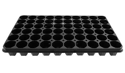 GREEN24 QP Topfplatte Multitopfplatte mit 60 Töpfen, Anzuchtplatte, Topfpalette Anzucht Töpfe, passend zum Gewächshaus Hydroponik 60