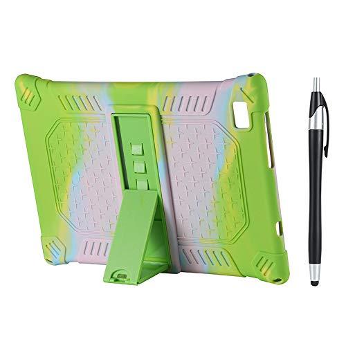 Gesh Funda de silicona para tablet Teclast M40 P20HD de 10,1', con soporte ajustable, con bolígrafo, color verde camuflaje