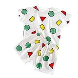 YWLINK Pijama Infantil Camiseta De Manga Corta De Dibujos Animados+Pantalones Cortos Mezcla De AlgodóN Traje Casual De Confort(Blanco,18-24 meses/100)