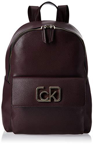 Calvin Klein Damen Ck Cast Backpack Schultertasche, Rot (Merlot), 13x35x28 Centimeters