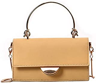 TOOGOO Women'S Pu Leather Crossbody Bag New Metal Handbag Ladies Summer Shoulder Bag Yellow