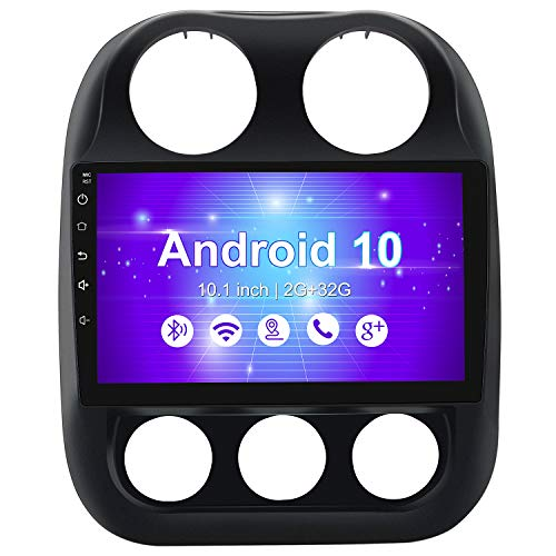 10.1 Inch Car Stereo Radio for Jeep Patriot Compass 2010-2016,Android 10 Player Radio with...