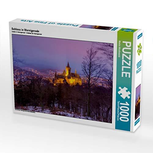 CALVENDO Puzzle Schloss in Wernigerode 1000 Teile Lege-Größe 64 x 48 cm Foto-Puzzle Bild von Martin Wasilewski