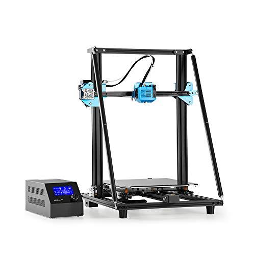 3D Printers, Fesjoy 3D Printer, CR-10 V2 High 3D Printer DIY Kit V-shaped Profile 300*300*400mm Printing Size Silent Motherboard Resume Print Filament Breakage Detection 8GB SD Card White PLA Sampl