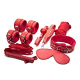 WWJ Productos for Adultos de Apelación de Apelación Conjunto 7 Piezas Set Agrupación Coqueteo Desgaste Cama pasión Accessories Gafas de Sol T-Shirt,Sunglasses (Color : Red)