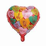 Happy Party Decor Bollons | Día Suministros, 17,18inch De 10pcs 18inch Fiesta De Cumpleaños Te Amo Corazón Globos Inflables De Helio Globos Foil Para Matrimonio De San Valentín