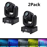 JRFY LED Moving Head Light Spot 4 Color Gobos Light 30W DMX with Show KTV Disco DJ Party for Stage Lighting (60W-2PCS)