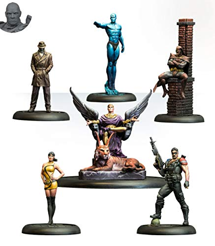 Knight Models Juego de Mesa - Miniaturas Resina DC Comics Superheroe - Batman Watchmen Bat Box Set