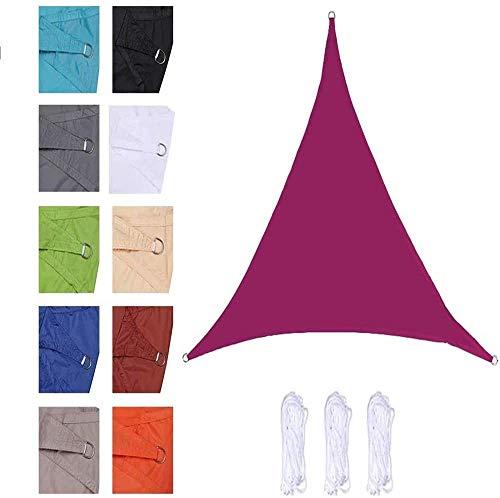 YPYGYB Velas De Sombra Triangulares, Toldos Impermeables Exterior Terraza, Toldo Vela De Sombra Protección Rayos UV Resistente Y Transpirable para Patio Exteriores Jardín,H-2.4x2.4x2.4M