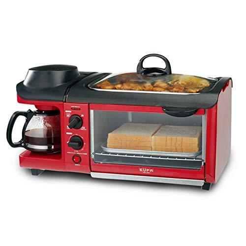 tostapane 5 in uno YPJKHL Macchina per la Colazione a casa Multifunzione Macchina per Pane tostato alla griglia Tostapane Tre in Uno