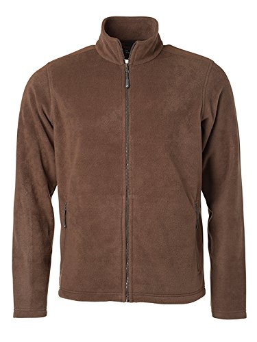 James & Nicholson Herren Fleece Jacke, Braun (Brown), XXXX-Large