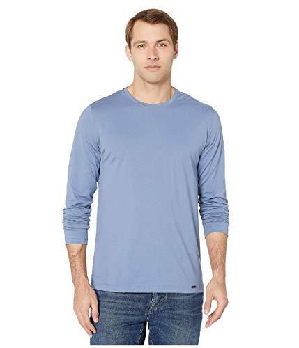 Hanro Herren Night & Day Long Sleeve Shirt Pyjama-Oberteil (Top), Karibikblau, Large