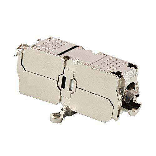 VESVITO Kabelverbinder STP CAT6A 10GE, geschirmt, kompatibel mit CAT7A, CAT7, CAT6 Kabel, Verbinder zum Reparieren, Verlängern von Netzwerkkabel Verlegekabel Installationskabel LAN Ethernetkabel