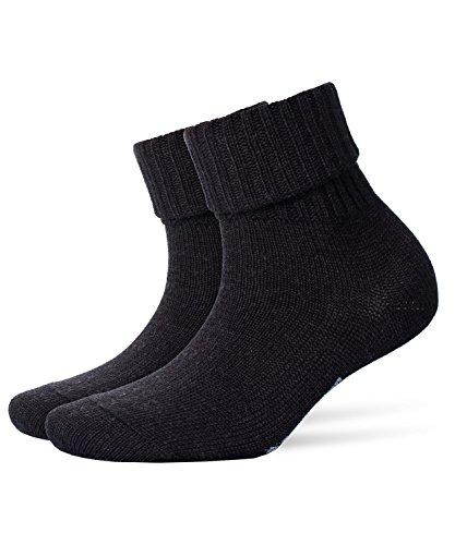 BURLINGTON Damen Socken Plymouth, 91% Schurwolle, 1 Paar, Grau (Anthracite Melange 3080), Größe: 36-41