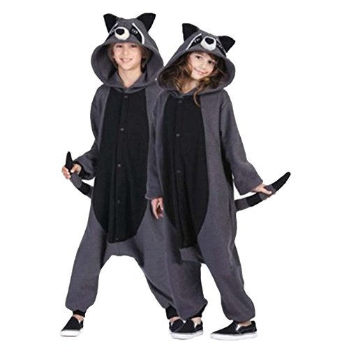 Lifeye Unisex Racoons Pajamas Adult Animal Cosplay Costume Gray L