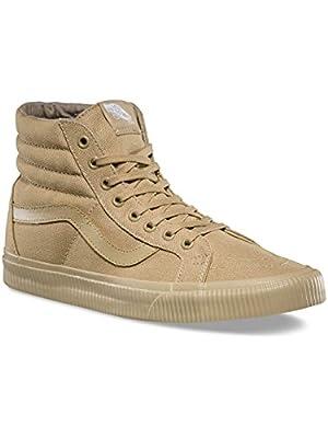Vans Unisex Sk8-Hi Reissue Skate Shoe (10 B(M) US Women/8.5 D(M) US Men, (Mono Surplus) Khaki/Khaki)