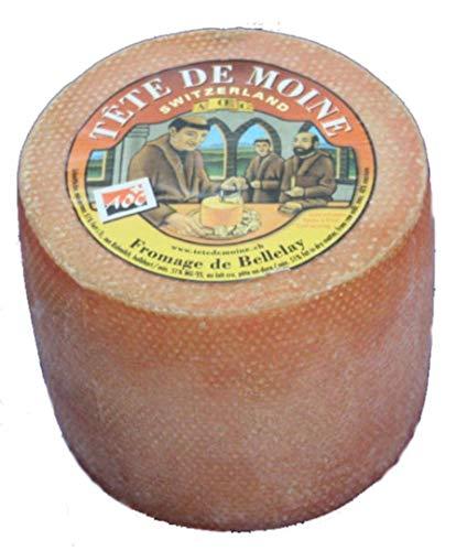 Originale Aoc Tete De Moine Svizzero Monaco Formaggio Intero Forma circa 850 G