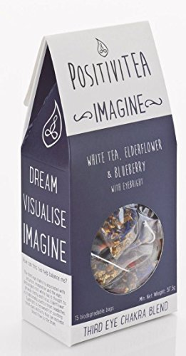 POSITIVITEA Imagine - White tea, Elderflower & Blueberry With Eyebright 15 Bags (Pack of 2)