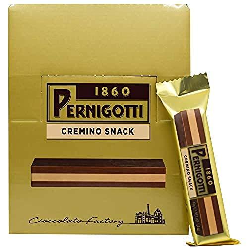 Pernigotti, Barretta Cremino Classico, Snack di Cioccolato Gianduia con uno Strato di Crema alle Nocciole, Senza Olio di Palma, 21 Pezzi x 40 gr (0.84 kg)