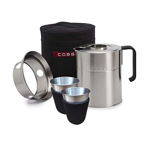 COBB Wasserkessel 1 L mit Tragetasche Wasserkocher Teekessel Grillzubehör 701661