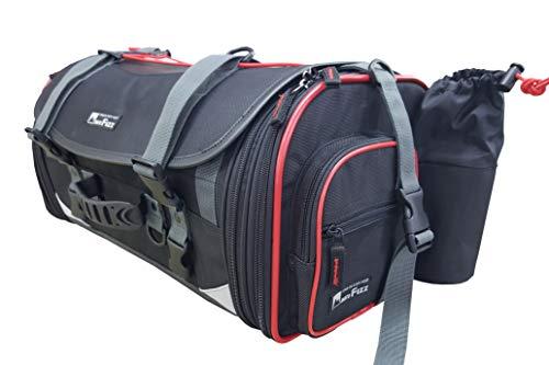 タナックス(TANAX) motofizz モトフィズ ミドルフィールド シートバッグ [29⇔40リットル] ブラック 【赤パイピング仕様】 MFK-233R3